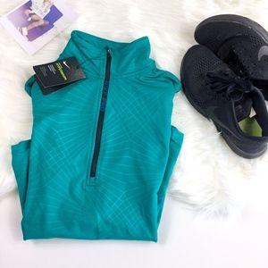 Nike Pro Teal Hyperwarm Advanced Long Sleeve Shirt